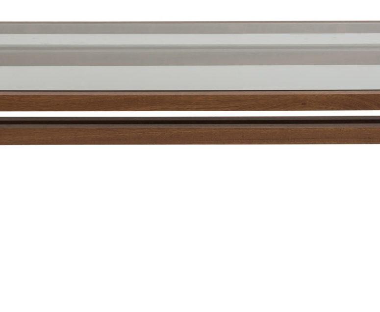 """Custom: 1 1/2"""" solid mahogany, mahogany stained"""