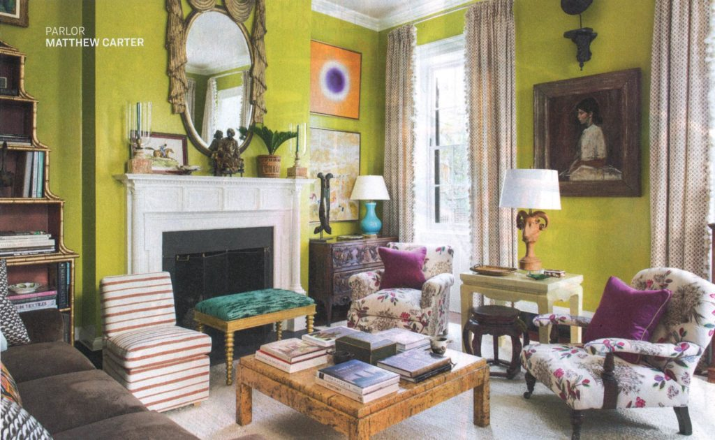 Billy Baldwin Slipper Chair featured in Southern Style Now Designer Showhouse by Matthew Carter Interiors